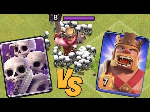 Thumbnail: SKELETON ARMY vs. EVIL KING!!🔸PROTECT YOUR FEET!!!!🔸Clash Of Clans 😀🔸