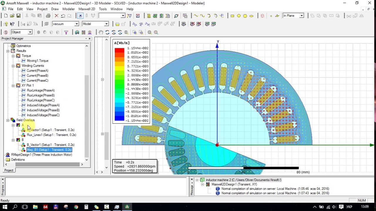 3 phase motor winding diagram spal dual fan wiring three - induction model design in ansys rmxprt / maxwell 2d/3d youtube