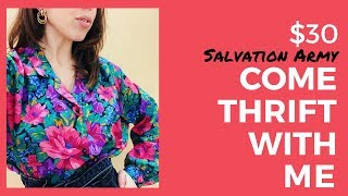 COME THRIFT WITH ME AT SALVATION ARMY HAUL