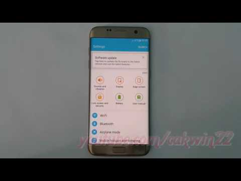 Samsung Galaxy S7 Edge : How to see android version animation (Android Marshmallow)