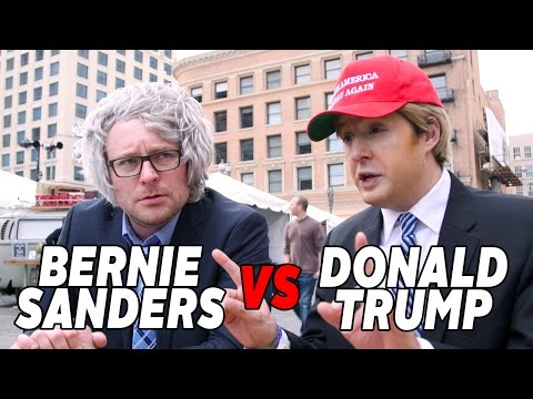 These Scarily Good Trump and Sanders Impersonators Debated on Camera for Us