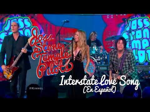 Joss Stone Temple Pilots 'Interstate Love Song' [Español/LIVE] @ Jimmy Kimmel HD