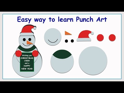 Punch Art Snowman | Paper Crafting | Stamping | Card making | Scrap booking