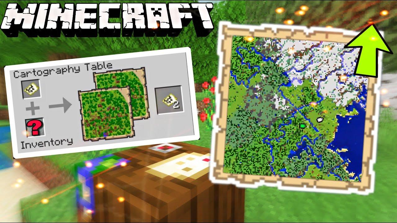 Como Aumentar Copiar Y Bloquear Un Mapa En Minecraft Guia Mesa De Cartografia Youtube