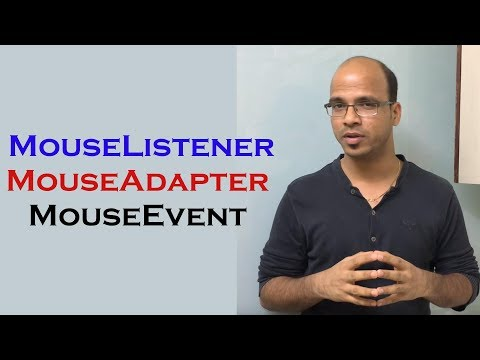 How to use MouseListener, MouseAdapter and MouseEvent in Java Swing