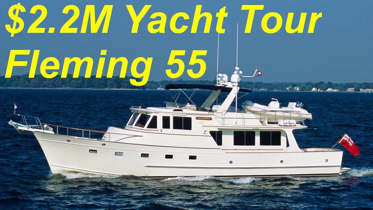 Download 2.2 Million Dollar Yacht Tour : Fleming 55