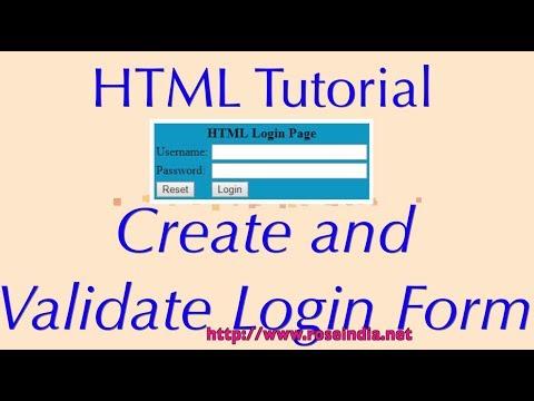 Creating HTML Login Page