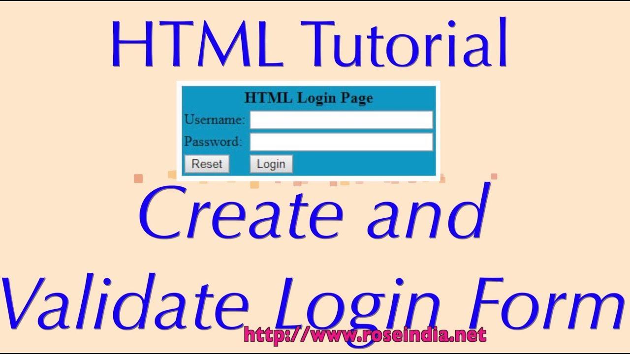 HTML Login Page Code