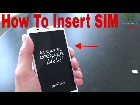 Alcatel One Touch Idol 2 S Insert the SIM card
