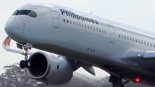 INAUGURAL | Philippine Airlines Airbus A350 Landing & Takeoff | Melbourne Airport Plane Spotting