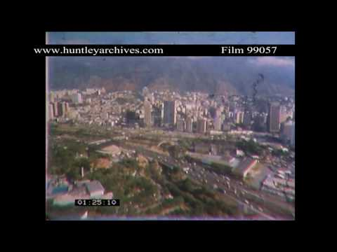 Caracas in the 1970's.  Archive film 99057