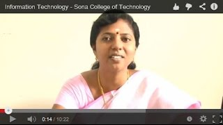 Information Technology - Sona College of Technology, Tamilnadu, India