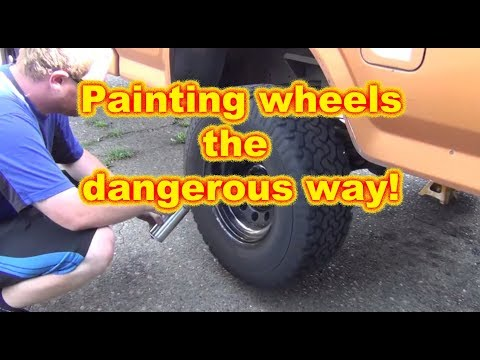 More Painting Wheels and Talking Truck Stuff