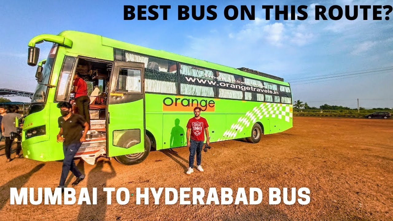 Download Mumbai to Hyderabad 700Kms Bus Journey in AC Sleeper Bus   Orange Tours and Travels AC Sleeper