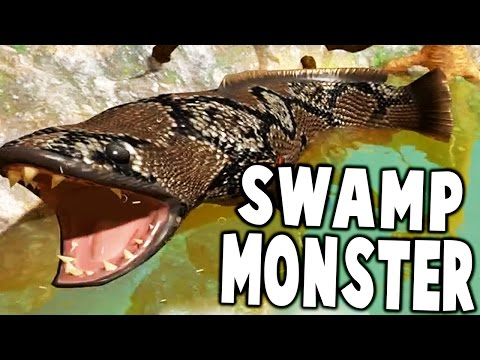 FIGHTING GIANT SWAMP MONSTER BOSS FISH, SNAKEHEAD - Fish Feed And Grow Gameplay
