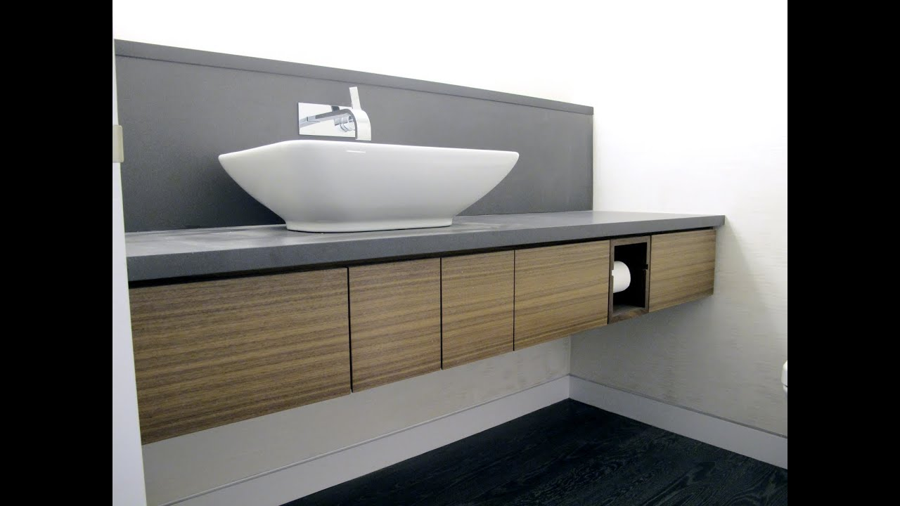 Modern Bathroom Vanities Small amusing modern floating vanity - youtube
