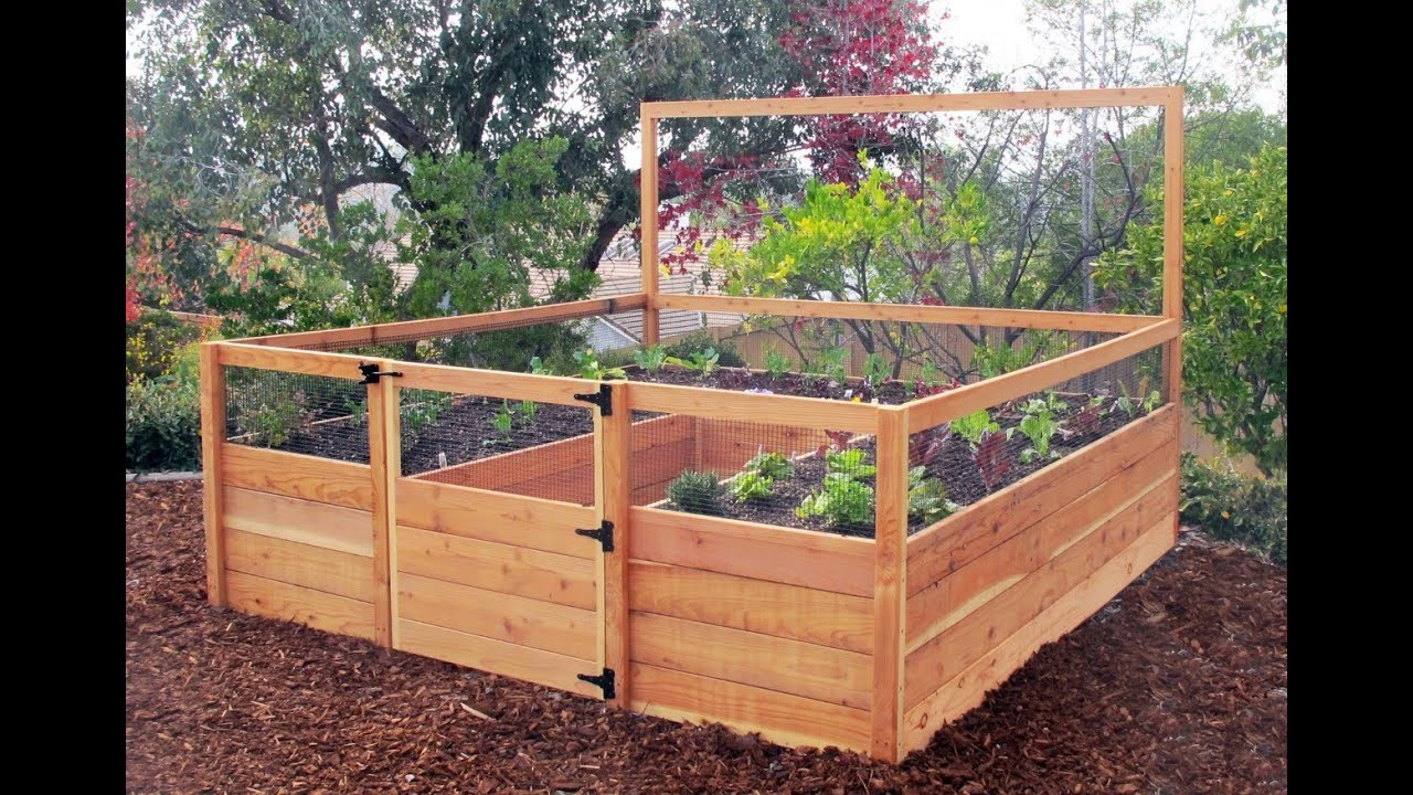 elevated garden beds YouTube