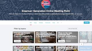 Find out how to engage with Erasmus+ Generation Online Meeting Point! thumbnail