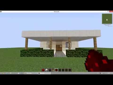 Minecraft construindo uma pequena casa moderna 1 2 for Casa moderna y pequena en minecraft