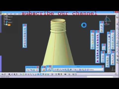 BASIC CATIA V5 TUTORIALS | PLASTIC BOTTLE