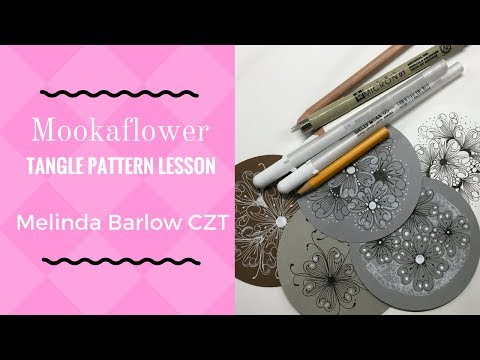 Mooka Flower Tangle Pattern Lesson # 260
