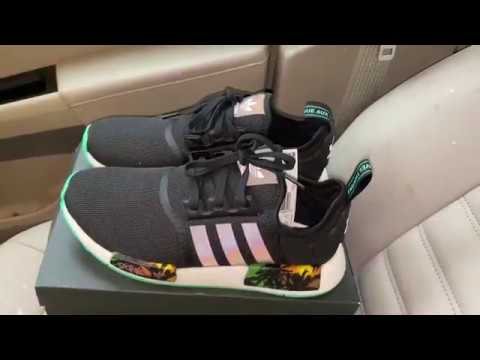 Adidas NMD R1 Palm Trees shoes - YouTube