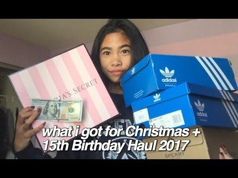 What I Got For Christmas & 15th Birthday Haul 2017! (Lulu's, Adidas, Kendra Scott, etc)