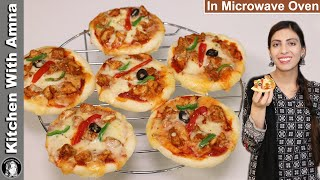 Bakery Style Mini Pizza in Microwave Oven | Chicken Pizza Recipe | Kitchen With Amna