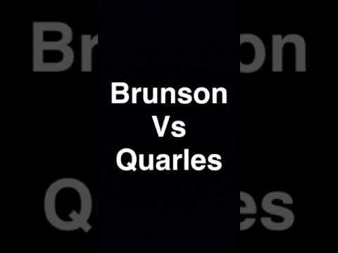 Tyrone Brunson Vs Brandon Quarles