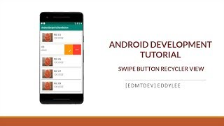 Android Development Tutorial - Swipe to show button Recycler View