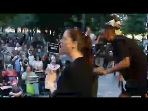 Milwaukee Bucks forward Jabari Parker speaks at anti-racism rally in Salt Lake City