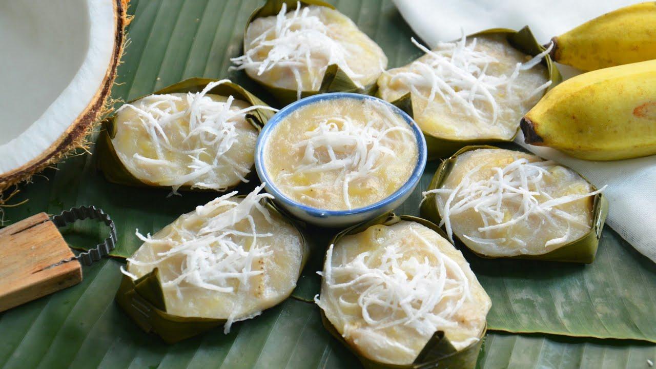 ขนมกล้วย สูตรแป้งน้อย เนื้อกล้วยเน้นๆ หอมหวานนุ่มหนึบหนับ เป็นขนมไทยทำง่ายและอร่อยมากๆ