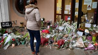 Police say French teacher's killer sent texts to parent angry over Mohammad cartoons