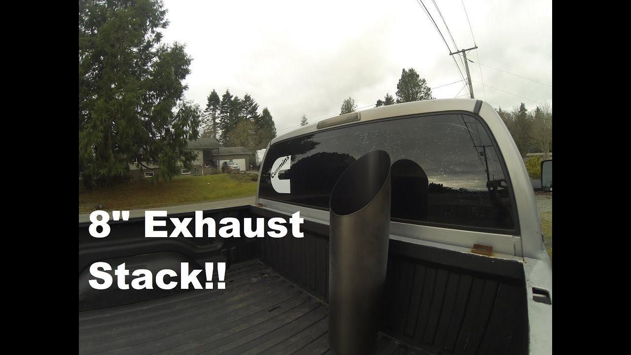 making an exhaust stack system for a cummins