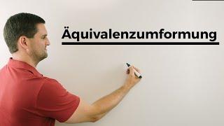 Äquivalenzumformung, äquivalentes Umformen, Gleichung lösen | Mathe by Daniel Jung