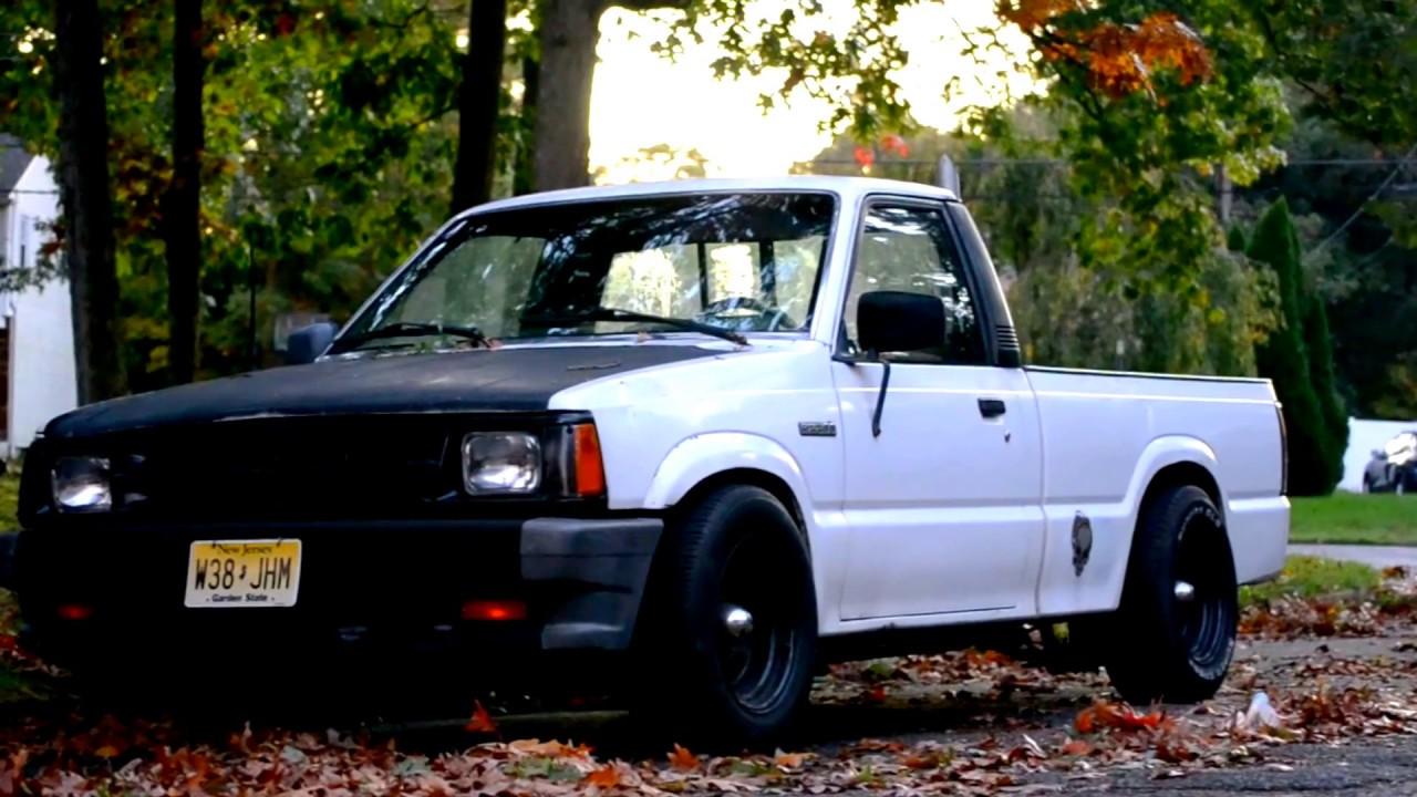 1988 mazda b2200 lowered mini truck nikon d3100 cinematic video [ 1280 x 720 Pixel ]