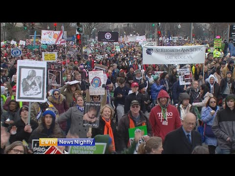 Pro-lifers march from the National Mall to the Supreme Court - EWTN News Nightly