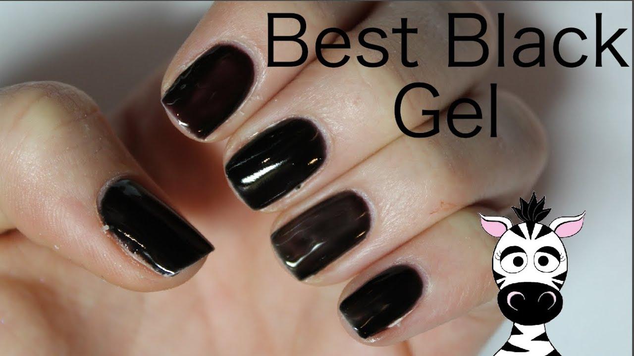 Black Gel Polish Which Brand Is Best Madam Glam Gelish Opi Shellac Laguna Moon Youtube