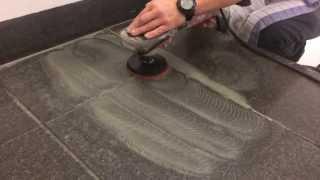 Broušení teraco podest a teraco schodů systémem FLEX Professional™