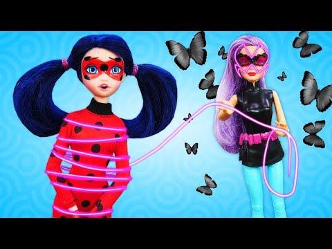Куклы Леди Баг иодевалки с Барби— Кукла Барби стала плохой— Как быть Леди Баг?