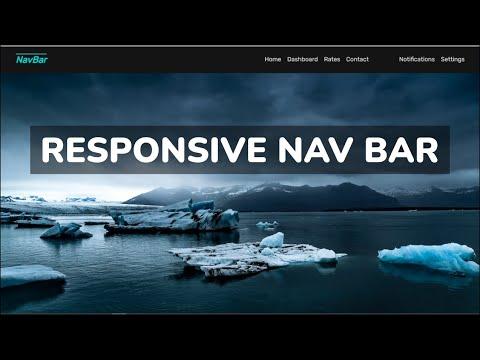 Responsive Navigation Bar Tutorial   HTML & CSS