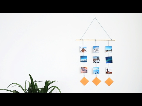 DIY Holiday Travel Gift Idea: How to Make a Mobile with Vacation Photos