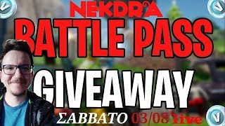 FORTNITE LIVE SEASON X-BATTLE PASS GIVEAWAY! #detopistevw #greek #live #fortnite #PS4Live