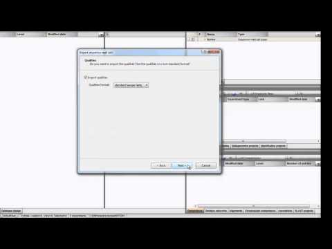 Import FASTQ files inside the BioNumerics database (BioNumerics 7)