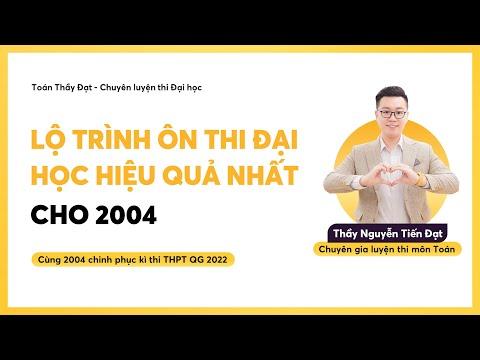 LỘ TRÌNH ÔN THI ĐẠI HỌC HIỆU QUẢ NHẤT    Thầy Nguyễn Tiến Đạt