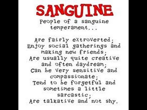 SOFIA: What is sanguine temperament