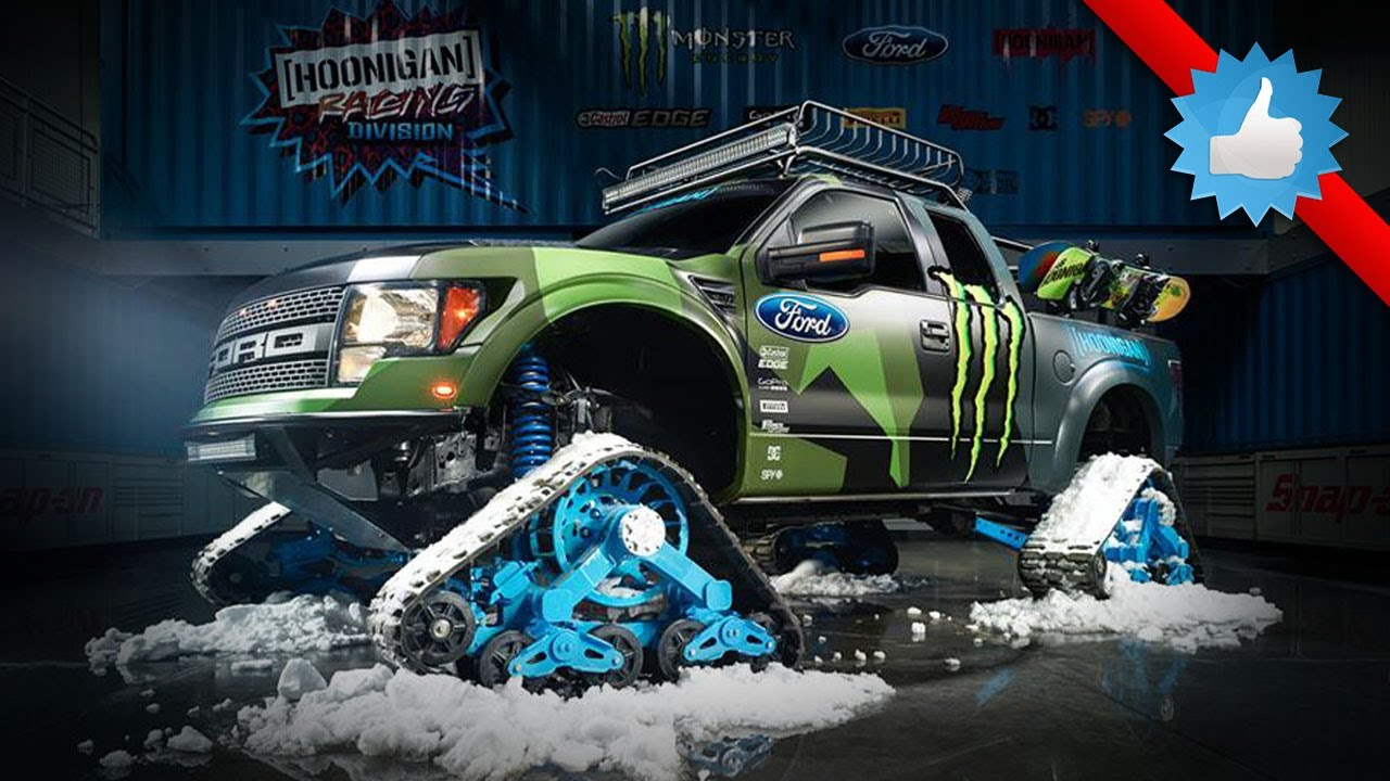 Ken Block S Ford F 150 Raptortrax Is Ultimate Snowmobile