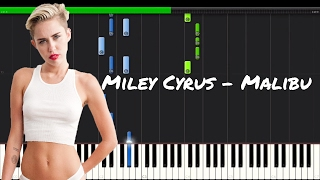 Miley Cyrus - Malibu Piano Tutorial