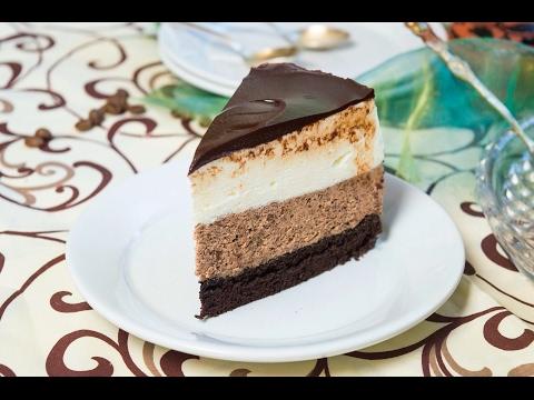 Сливочно шоколадный торт суфле