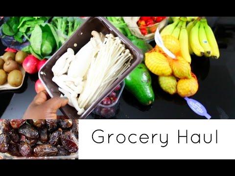 Grocery Haul Healthy Nutritious Organic Whole foods Shopping Ocado UK 2017
